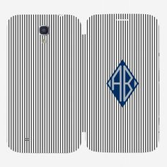 Samsung Galaxy Mega 6.3 Strips Monogram Flip Cover