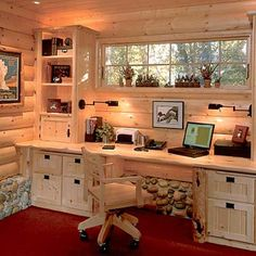 Small work space ideas - like the space saving nook desk