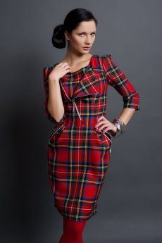 Vanessa, a short tartan dress with zippers, Heritage of Scotland, product ID: 18540