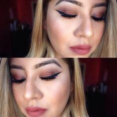 "M.A.K.E.U.P on Instagram: ""From yesterday.. Eyes: @morphebrushes 35o palette I'm in love with it! Eyeliner: @nyc_cosmetics_ Black Eyeliner Eyebrows: @wetnwildbeauty Eyebrow kit Face: @nyxcosmetics stay matte foundation & @lagirlcosmetics Spice blush collection @lauramercier translucent powder, @maccosmetics soft & gentle highlight Lips: Devotion @bhcosmetics"