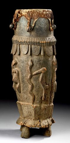 Drum from the Senufo people of the Ivory Coast Arte Tribal, Tribal Art, Africa Art, West Africa, Drum Musical Instrument, Instruments, African Drum, Cultural Crafts, African Sculptures
