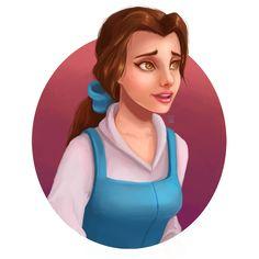 Belle (Head Shots by LornaKelleherArt @deviantART) #BeautyAndTheBeast