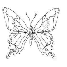 'Butterfly Outline ' by Katari Designs