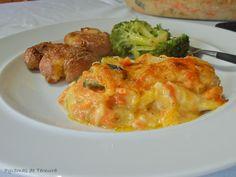 7gramas de ternura: Bacalhau Gratinado de bacalhau e legumes