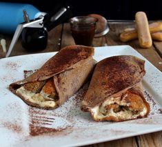 tiramisu palacsinta Waffles, Pancakes, Tiramisu, Hungarian Recipes, Hungarian Food, Food Network, French Toast, Sweets, Bread