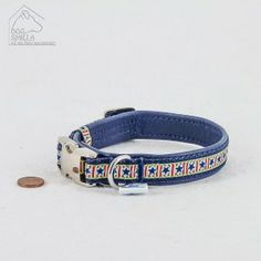 "Mini Leder Halsband ""Stars & Stripes"" blau  24,90€"