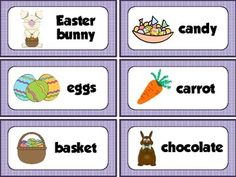 Easter vocabulary cards for your word wall