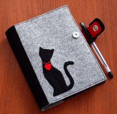 Refillable Felt Journal Cover Felt Notebook by CuteGiftsAndCrafts