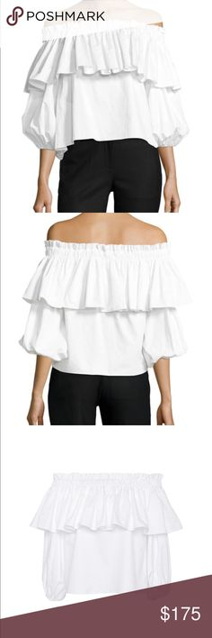 "Alexis Barbie Off The Shoulder Top Sz Small Like new! Only worn one time! Super cute Alexis ""Barbie"" Off the shoulder top. 100% cotton. Voluminous top with exaggerated sleeves. Perfect for spring and summer! Purchased for $285. Alexis Tops Blouses"