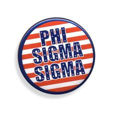 Phi Sigma Sigma Patriotic USA Button  from GreekGear.com