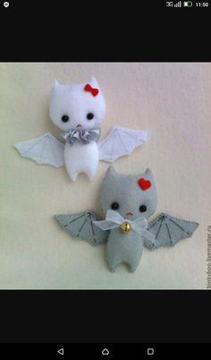 Летучие мыши Мягкие игрушки из фетра
