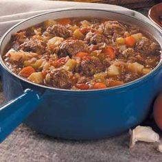 Bavarian Meatball Stew-so yummy.  I serve it with rye bread.