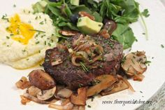 Grass Fed Top Sirloin with Caramelized Shallots and White Wine Reduction | The Organic Kitchen Blog and Tutorials