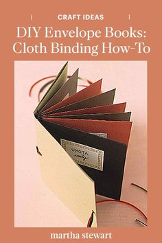 Learn how to make an envelope book with a cloth binding with our step-by-step tutorial for a homemade scrapbook. #marthastewart #crafts #diyideas #easycrafts #tutorials #hobby