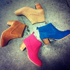 Color pop! Spring booties are all about the right hue.