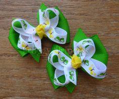 Butterfly Pigtail Set  Piggy Bows  No Slip Velvet Grips