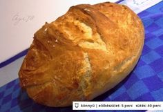 Gyors házi cipó -     50 dkg kenyérliszt BL80     4 dl víz (langyos)     2.5 dkg friss élesztő     0.5 teáskanál cukor (kk)     2 tk só     4.5 ek napraforgó olaj