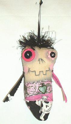 Mini Valentine Monster Zombie Doll. $10.00, via Etsy.