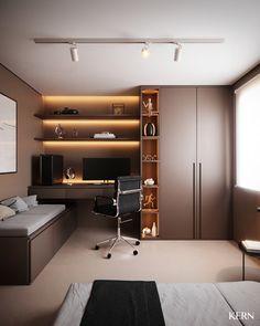 Bedroom Workspace, Bedroom Setup, Workspace Design, Office Interior Design, Home Decor Bedroom, Small Room Design Bedroom, Study Room Design, Home Office Setup, House Rooms