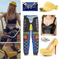 "iggy azalea work outfit | screen capture from Iggy Azalea's ""Work"" music video – youtube"