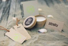 Honu - Surfboard and surf wax packaging design. Designed by: Melanie Lapovich, USA.
