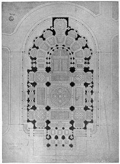 Floor plan of the Sacré-Coeur, Paris