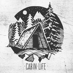 Cabin life  Converting a few older sketches into digital images. If anyone has some useful tips for illustrator I would dig to hear them!