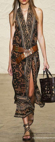 Gorgeous boho dress brown and black ethnic Look Fashion, Womens Fashion, Fashion Tips, Fashion Design, Fashion Trends, 2000s Fashion, French Fashion, Dress Fashion, Spring Fashion