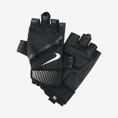 COMFORT AND SUPPORT The Nike Destroyer Men's Training Gloves are made with a padded palm and a supportive wrist-wrapping closure for comfortable hand protection and a locked-in feel during intense lifting workouts. Benefits Lightweight construction offers stability and support during lifting workouts Padded PU leather palm for comfort and protection Wrist-wrapping closure provides extra support and a locked-in feel Product Details Fabric: 50% polyester/22% PU leather/20% nylon/8%…