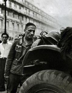 A defeated German soldier in Paris in August, 1944. #ToHellAndBack #MariaRosaAuthor #WorldWarII #WWII #WW2 #history #Nazi #German #Paris #soldier