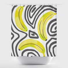 Bold painted banana pattern