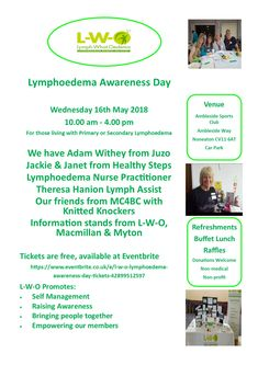 Wonderful opportunity to meet others living with lymphoedema.