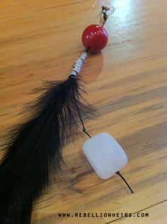 FREE SHIPPING Red Red Red -  A Single Rugged Boho-Chic Inspired Feather Shoulder Duster feat. Reclaimed Agate... by rebellionheir((s)). $19.00, via Etsy.