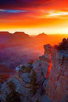 Grand Canyon Sunset. ...