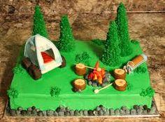 camping cake ideas - Google Search Campfire Cake, Camping Cakes, Girl Scout Camping, Cupcake Cakes, Cupcakes, Cake Decorating, Decorating Ideas, Yummy Food, Yummy Recipes