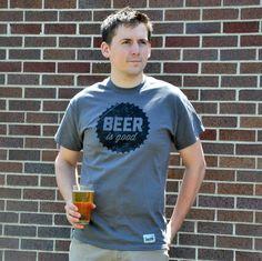 FATHER'S DAY ALERT! Men's Craft Beer T-shirt - Beer Is Good. $20