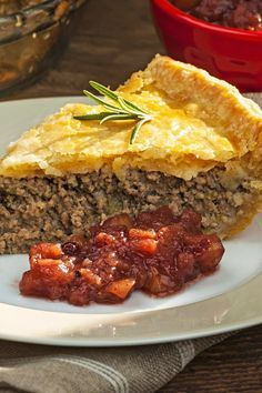 French Canadian Tourtiere Meat Pie Recipe with Ground Pork, Ground Beef, Onion, Garlic, Thyme, Sage, and Cloves