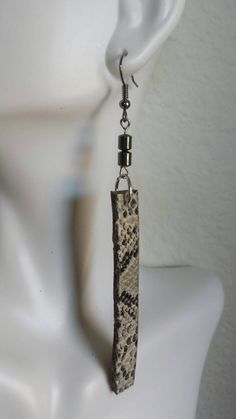 Check out this item in my Etsy shop https://www.etsy.com/listing/228680753/leather-earrings-faux-snakeskin-upcycled