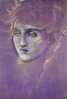 Sir Edward Burne-Jones-Head of a Woman