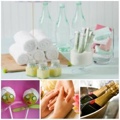 Pamper Party - we love this idea. With many a glass of wine of course!