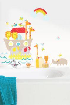 DECOILUZION - Pegatinas pared infantil Arca de Noe