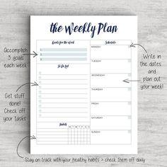 Printable Weekly Planner To Do List Weekly door GetDIYAwesome