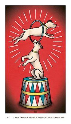 circus dog tattoo