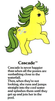 My Little Pony Cascade fact file ...