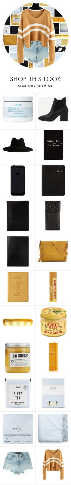 """Yellow"" by xgracieeee ❤ liked on Polyvore featuring Aveda, Yves Saint Laurent, Burberry, Rich and Damned, Barneys New York, Chanel, Ellington, Royce Leather, Hermès and Burt's Bees"