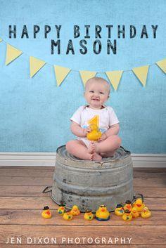 First Birthday- Rubber Duckie www.jendixonphoto.com