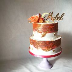 RT Cakes creates bespoke wedding cakes in Essex, Kent and London. We can cater for all needs and can also personalise wedding favours and dessert tables upon request. Wedding Favours, Wedding Cakes, Flower Cake Toppers, Gold Lace, Sugar Flowers, Dessert Table, Catering, Favors, Orange