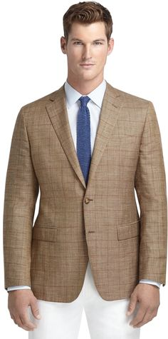 Tan Plaid Blazer by Brooks Brothers. Buy for $538 from Brooks Brothers