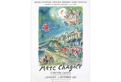 Cool are poster for Marc Chagall exhibit!