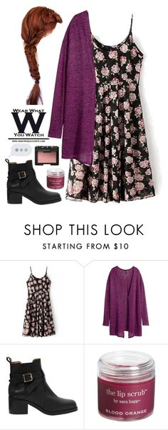 """Teen wolf- Lydia"" by be-robinson ❤ liked on Polyvore featuring H&M, Carvela Kurt Geiger, Sara Happ, NARS Cosmetics, wearwhatyouwatch and TeenWolf"